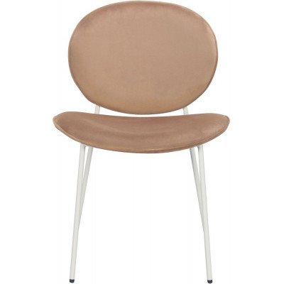 Rondo stol - Lysebrun (fløyel)/hvit