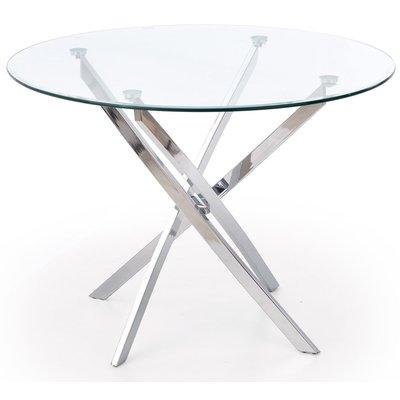 Trend 4 bord - Glass/Krom