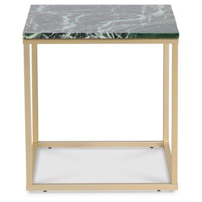 Accent stuebord 50 - Grønn marmor / Matt messing
