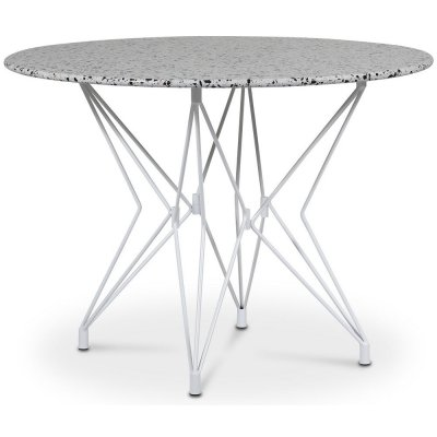 Zoo spisebord Ø105 cm - Hvit / Terrazzo Cosmos