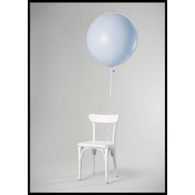 BLUE BALLOON - Plakat 50x70 cm