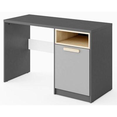 Jeffry skrivebord - Grafitt/lysegrå