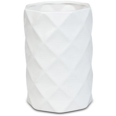 Vase Romb H22 cm - Hvit