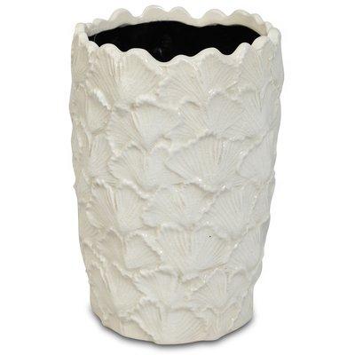 Vase Ginkgo H22 cm - Hvit