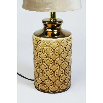 Dream lampefot - keramikk Gul