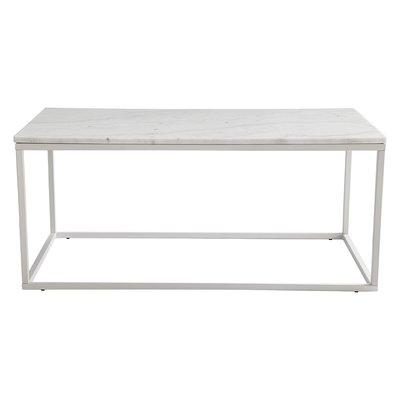 Accent sofabord 110 - Hvit marmor