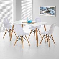 Nesto rektangulært spisebord - Hvitt