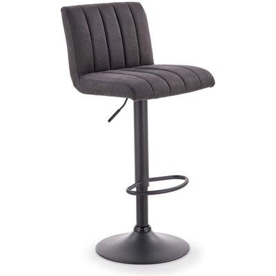 Elfrieda barstol - Mørkegrå/svart