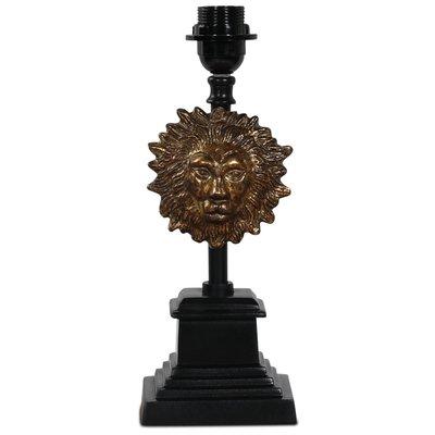 Løve lampefot H36 cm - Svart / Gull
