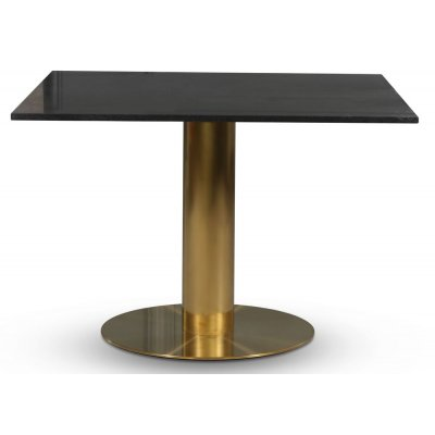 Empire spisebord - Granitt 90x90 cm / Børstet messing