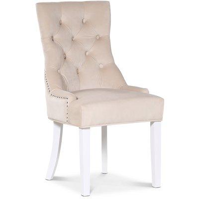 Tuva Decotique stol håndtak - Beige fløyel