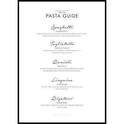 PASTA GUIDE - Plakat 50x70 cm