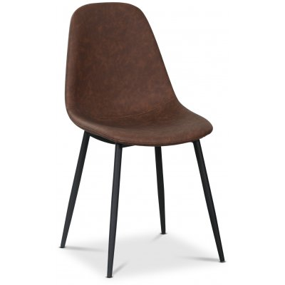 Carisma stol - Brun PU/svart
