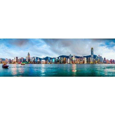 Glassbilde Hong Kong - 160x60 cm