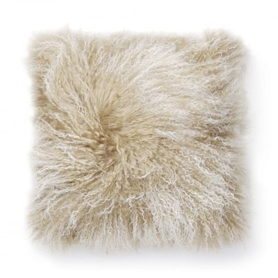 Shansi putevar fåreskinn - Beige/vit
