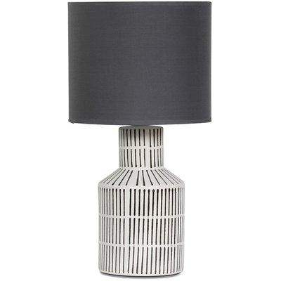 Märtha Bordlampe 48 cm - Hvit/Grå