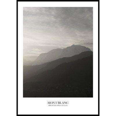 MOUNT BLANC - Plakat 50x70 cm