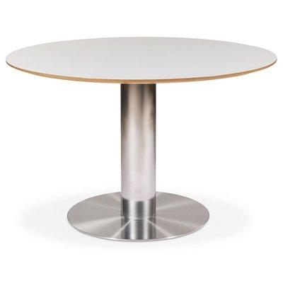 Next 118 rundt spisebord - Børstet stål / Lys virvler