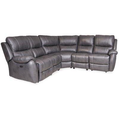 Enjoy recliner-hjørnesofa - 4-seter (el) i grått kunstskinn