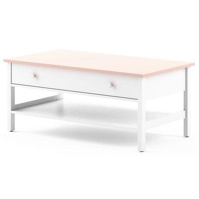 Lettitia sofabord - Hvit/rosa