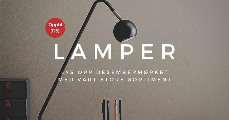 Lamper - Opptil 71%