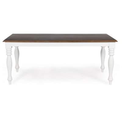 New England spisebord - Hvit/Brunbeiset