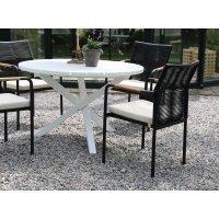 Scottsdale spisebord rundt 112 cm - Hvit