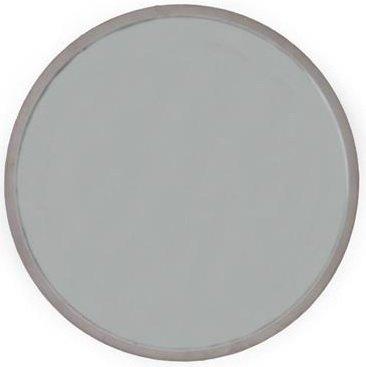 Fløyel rund speil 40 cm – Pudderrosa fløyel