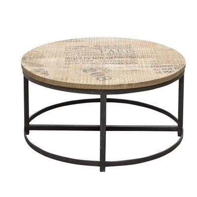 Tessa sofabord 90 cm - Tre/metall