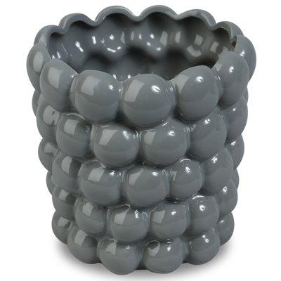 Krukke Big Bouble H23 cm - Grå