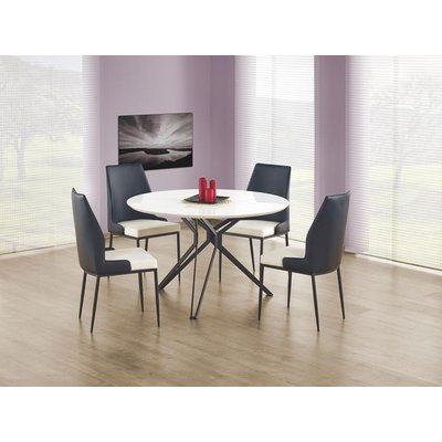 Bibbi spisebord 120 cm - Hvit/svart