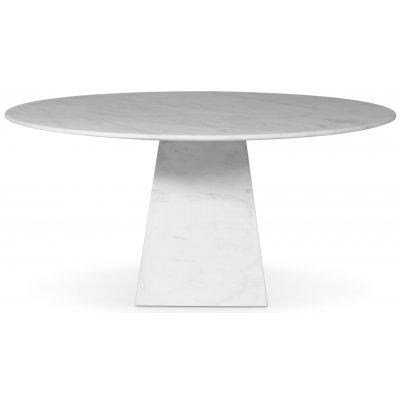 Pegani rundt spisebord i hvit marmor - D150 cm