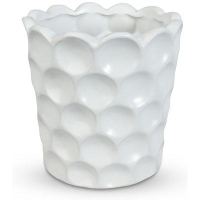 Krukke Cavity H26 cm - Hvit