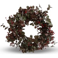 Kunstig plante - Krans med rognebær D60 cm