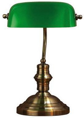 Bankers Bordlampe - 42 Oksyd/Grønn
