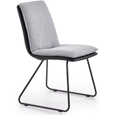 Veronika spisestol - Lys grå/svart