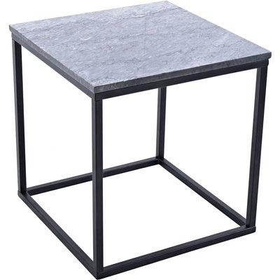 Accent sofabord 50 - Grå marmor/svart understell