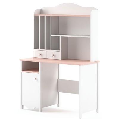 Lettitia skrivebord - Hvit/rosa