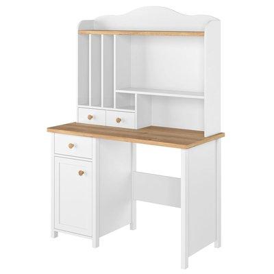 Eldon skrivebord - Hvit/eik
