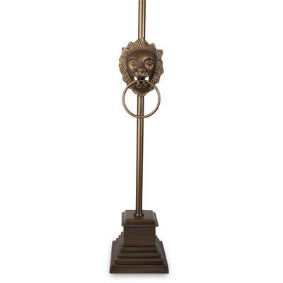 Løvehode Bordlampe 60 cm - Antikk Messing