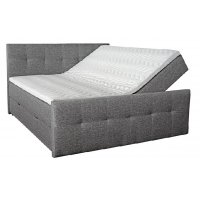 Siesta sengepakke, kontinentalseng med oppbevaring 5-sone pocket (grå) - Valgfri bredde