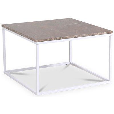 Accent stuebord 75 - Brun marmor / Hvit