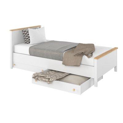 Eldon seng 100x200 cm - Hvit/eik