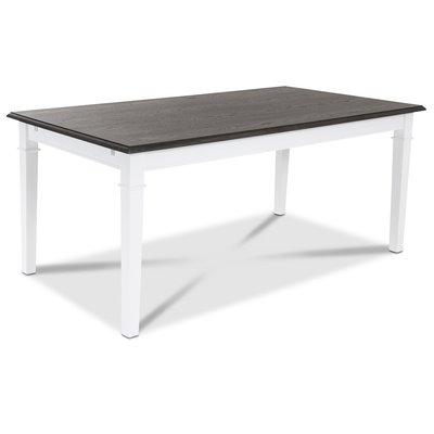 Ramnäs spisebord 140 cm - Hvit/Brunoljet eik