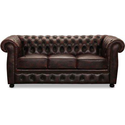 Dublin 3-seter sofa - Okseblod skinn