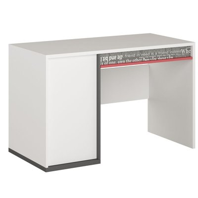 Jacklyn skrivebord - Hvit/graphite