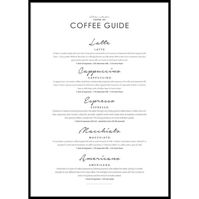 COFFEE GUIDE - Plakat 50x70 cm