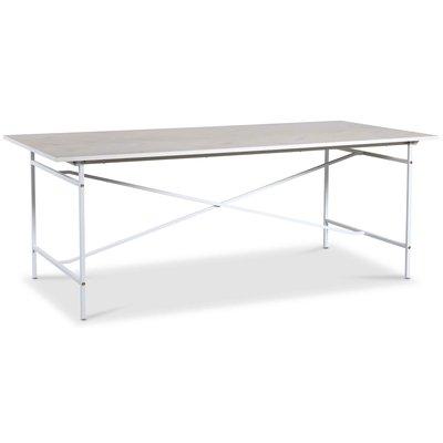 Crystal spisebord 200 cm (Fishbone) - Hvit / Whitewash