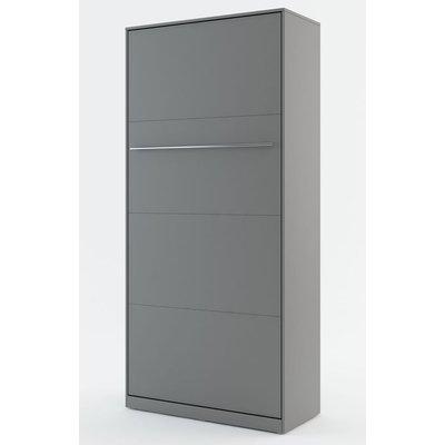 Sengeskap compact living vertikalt (90 x 200 cm fellbar seng) - Grå