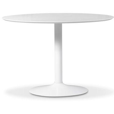 Ibiza spisebord - hvit/hvit - ø110 cm